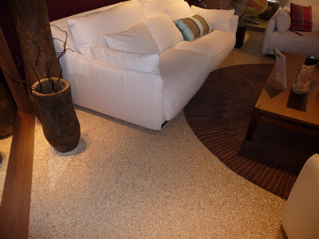 Resin terrazzo flooring in London Shop