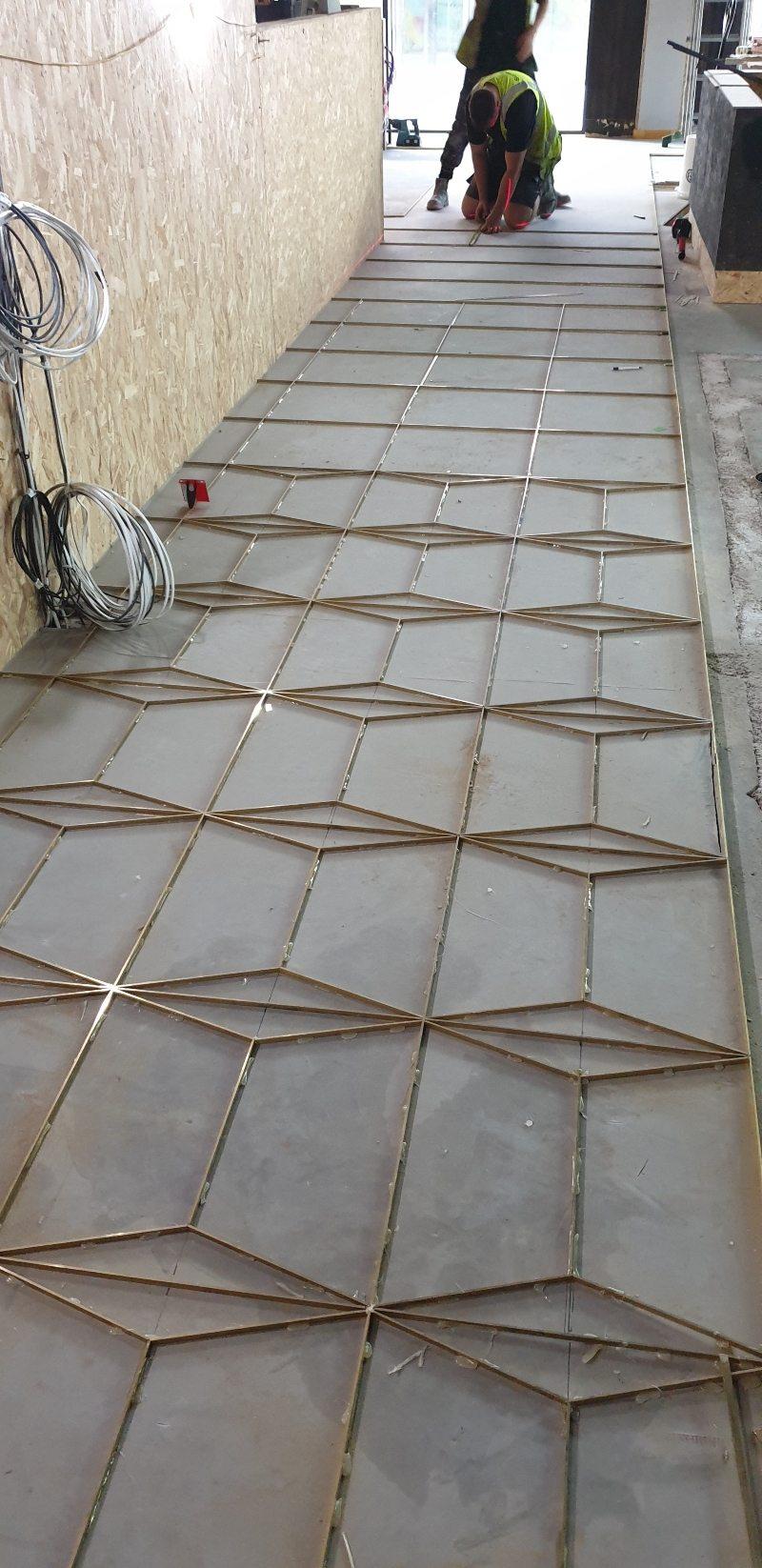 Resin terrazzo flooring in Surrey