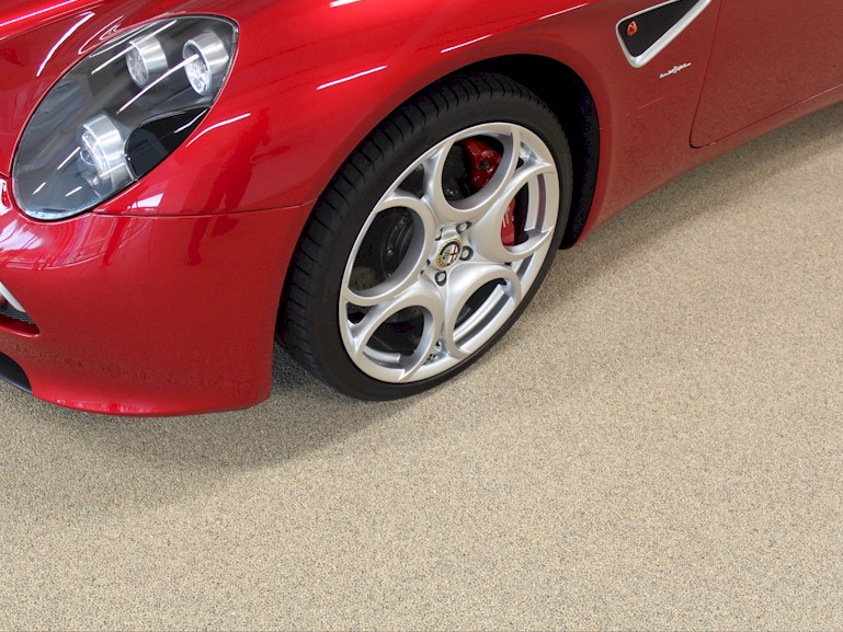 Trowelled Screed flooring for garage showroom